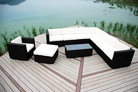 l shaped furniture. Chloe Luxury Grey Rattan Garden Furniture Modular L-Shaped Corner Patio Sofa \u0026 Armchair L Shaped