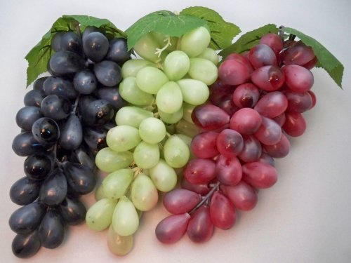 Grand Bouquet artificiel Rouge/violet raisins décoratifs Fruits A-goo
