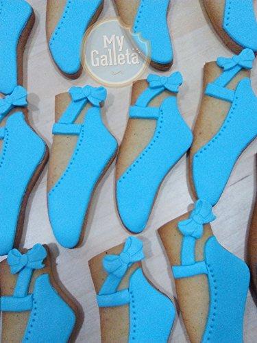Lote De 10 Galletas Decoradas De Zapatillas De Ballet