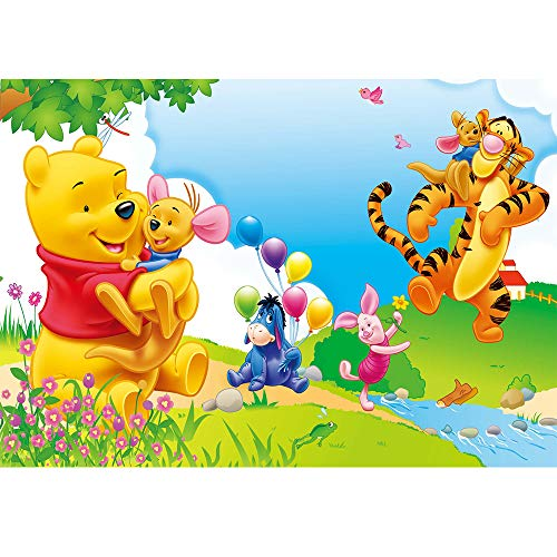 - Photography Backgrounds Spring Newborn Baby Cartoon Photos Cute Winnie The Pooh Backdrop for Babyshowers Customized Happy Birthday Background Disney Theme