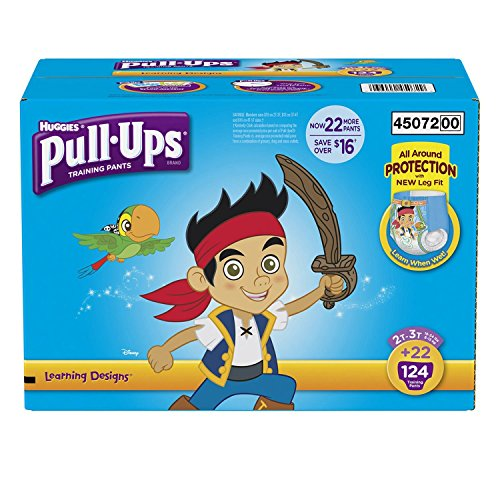 Huggies Pull Ups Learning Design Training Pants Boy 2T-3T 124 Count (Halloween College Stories)