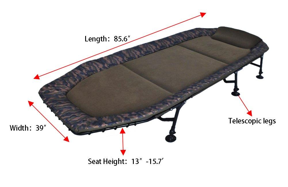 AMENITIES DEPOT Memory Foam 6-Leg Foldable Camping Single Bedchair Cot(202058) by AMENITIES DEPOT (Image #3)