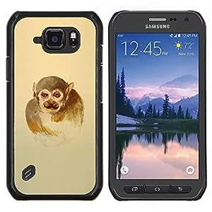 Qstar Arte & diseño plástico duro Fundas Cover Cubre Hard Case Cover para Samsung Galaxy S6Active Active G890A (Hombre mono)