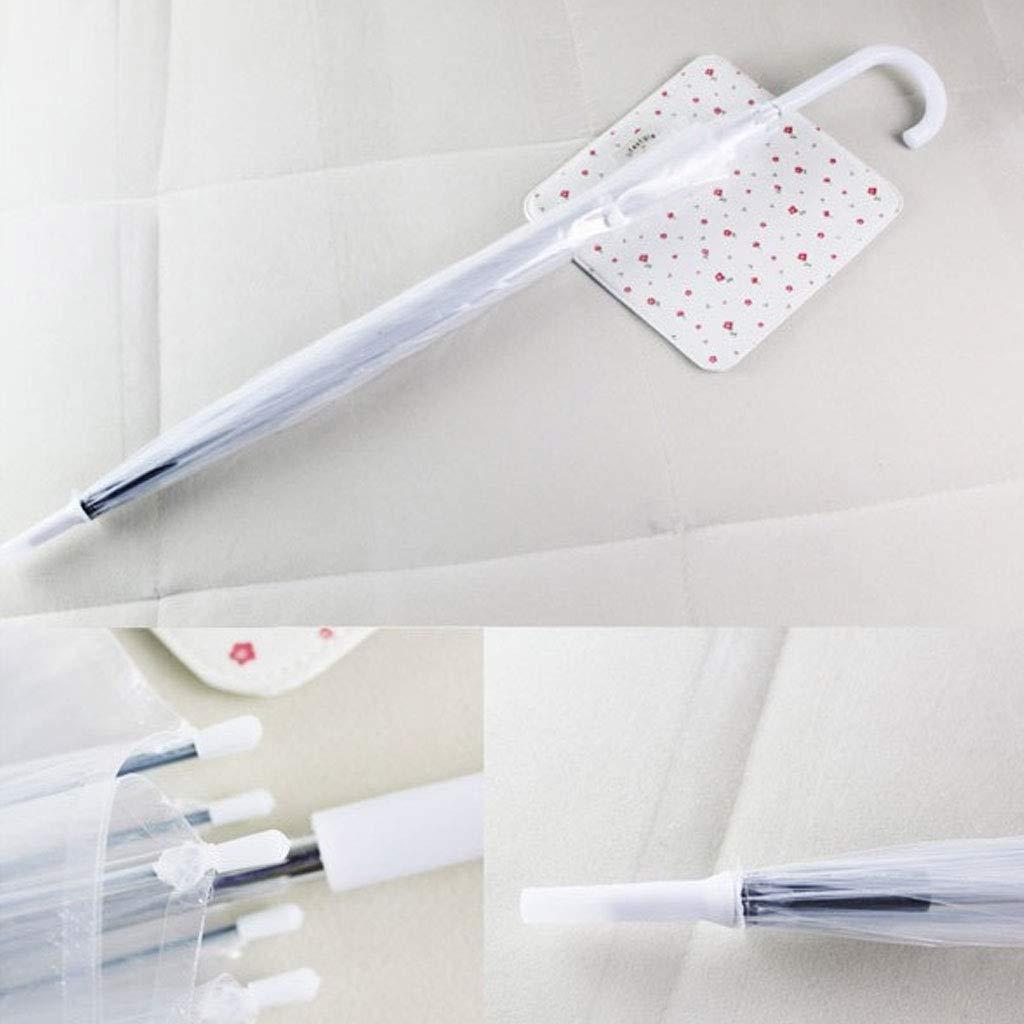 chenpaif Fashion Trasparente Bolla a Forma di Cupola Ombrello Esterno Antivento ombrelli Princess sarchiatura Decorazione Trasparente