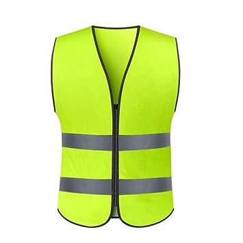 JTWJ Chaleco reflectante, chaleco, ropa de seguridad, tráfico ...