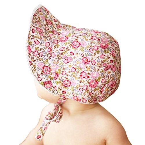 Huggalugs Baby Girls Cottage Garden UPF25+ Sunbonnet - Bonnet Doll
