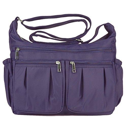 Lightweight Corss-body Purse Volcanic Rock Shoulder Bag(8981_Purple-Large) by Volcanic Rock