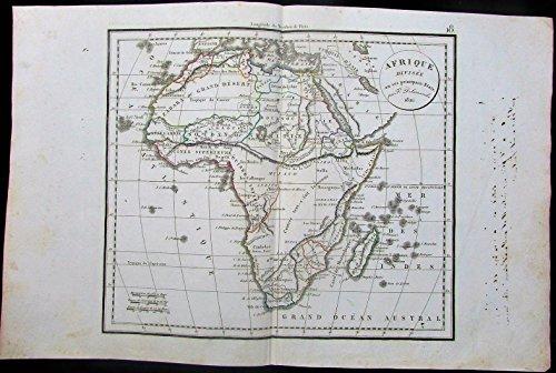Africa Nubia Sahara Desert Guinea Sudan Madagascar 1826 antique Delamarche (Delamarche Map)