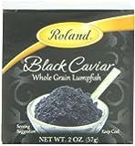 Roland Black Caviar, Whole Grain Lumpfish, 2 Ounce