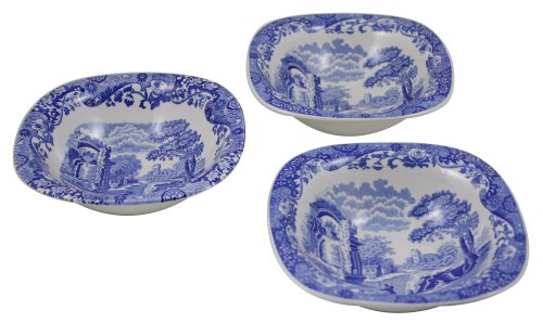 Spode Blue Italian Dipping Dishes, Set of 3 (Earthenware Italian Dinnerware)