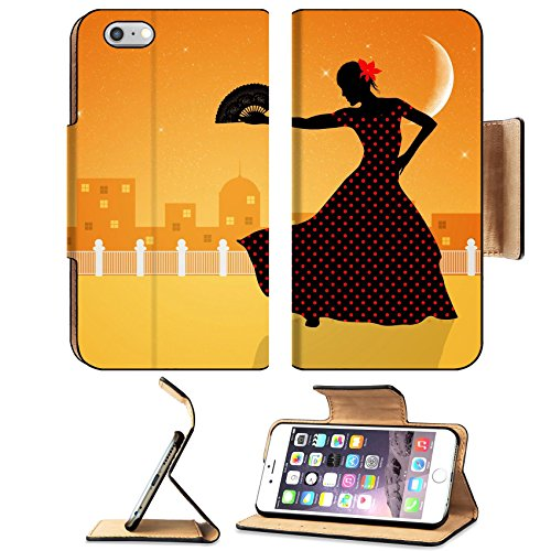 [Liili Apple iPhone 6 Plus iPhone 6S Plus Pu Leather Flip Case Illustration of flamenco dancer iPhone6 Plus Image ID] (Female Flamenco Dancer Costumes)