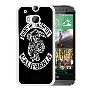 For HTC ONE M8,Sons Of Anarchy California TV Series White Protective Case For HTC ONE M8