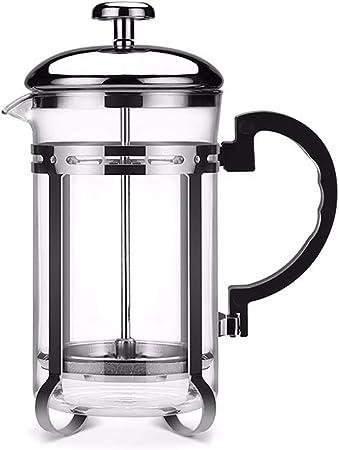 FYHKF Cafeteras de émbolo Cafetera Francesa de presión. Pote de perforación Manual. Café del té. Hogar portátil 8 * 19.5 cm, 600 ml.: Amazon.es: Hogar