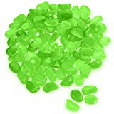 Katzco Glow in The Dark Pebbles - 100 Pieces of Luminous Stones - Perfect DIY Decoration for Fish Tank Aquariums, Flower Pots, Vase, Lawn, Garden, Landscapes and Walkways