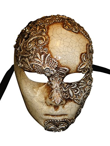Eyes Wide Shut Costumes (Venetian Full Face Eyes Wide Shut Mask Volto Mac Craquele for Men (silver))