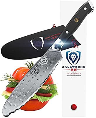 "DALSTRONG- Ultimate Utility Knife - Shogun Series X - 6"" - Japanese AUS-10V - Vacuum Treated - Guard Included"