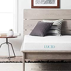 The LUCID 5 inch Gel Memory Foam Mattress features 100 percent CertiPUR-US certified memory foam and a 10 year U.S. warranty backing its premium materials. With a 1 inch comfort layer of gel infused cooling memory foam and 4 inches of support...