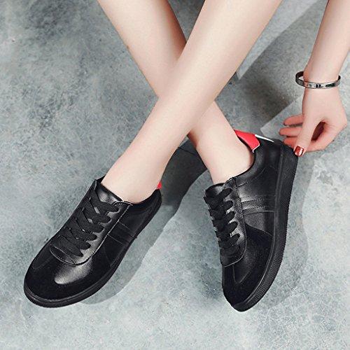 Studenten Weiblich Freizeitschuhe Weiß Frühling Farbe red Damenschuhe Black Einzelne HWF Damenschuhe größe Flache Sport 38 Schuhe BYqvacCw