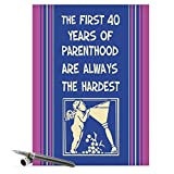 Jumbo Funny Mother's Day Card: First 40 With Envelope (Extra Large Version: 8.5'' x 11'') J0074