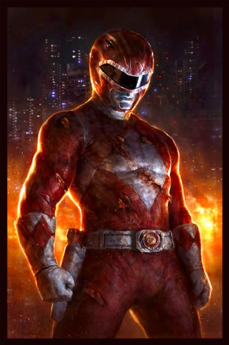 """Power Rangers Limited Edition Fine Art Lithograph""""Red Ranger"""" by Dave Rapoza from Acme Archives"""