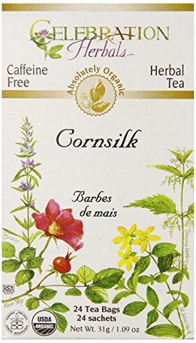 Celebration Herbals Organic Cornsilk Tea Caffeine Free -- 24 Herbal Tea Bags