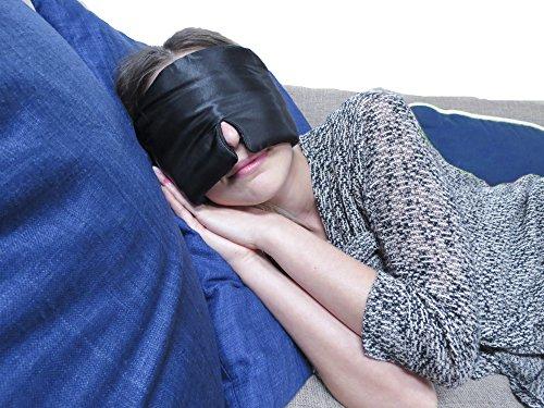 Luxury Black Satin Sleep Eye Mask! Increase REM Sleep Cycles