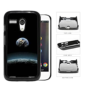 Earth Aerial View From The Moon Hard Plastic Snap On Cell Phone Case Motorola Moto G