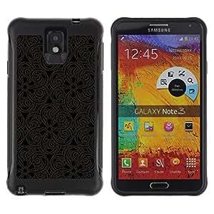 Fuerte Suave TPU GEL Caso Carcasa de Protección Funda para Samsung Note 3 / Business Style Pattern Oriental Carving Lace Interior Design Art