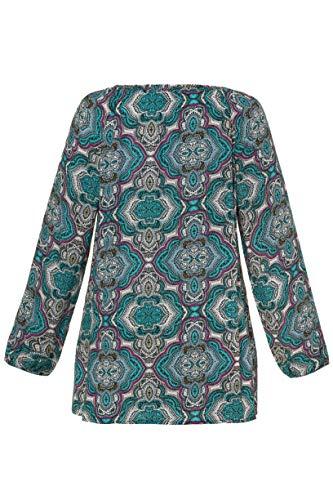 716165 Ulla CachemireManches Tunique Multicolore Popken Femme Grandes Imprimée Longues Tailles OP8nXZN0wk