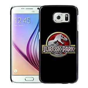 New Design Jurassic Park Logo Black Samsung Galaxy S6 G9200 Phone Case