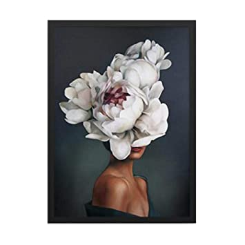 Amazon.com: wwttoo Abstracto Flor Avatar Chica lienzo ...