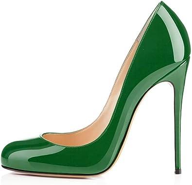 Amazon.com | Sammitop Women's Round Toe 120mm Sky High Heel Pumps Ladies  Stiletto Evening Dress Shoes | Pumps