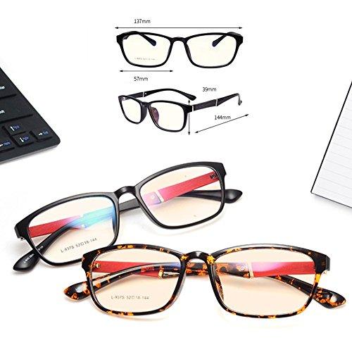Unisex Lunettes Carré Unisex Goggles Homme Femme Anti Lumière Bleue Lunettes à Verres Transparents Mode à Armature Métallique Eyewear pour Travailler/Gaming/Lecture Hibote C 5
