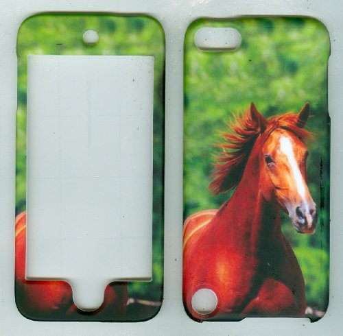 Green Horse Faceplate Hard Case Protector for Apple Ipod Touch 5 5th Generation Skin Cover Case Accessory
