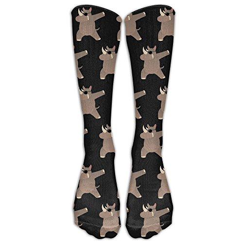 JJZ-sock Mens&Womens Premium Quality Rhino WIth Sunglasses Dabbing Funny High Athletic Socks Athletic Socks Sports Outdoor One - Where Sunglasses To Buy Mens
