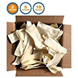 | Premium Rawhide Chips For Dogs (2 Pound) 100% All Natural Grass-Fed Free-Range Beef Raw Hide – Pet Healthy Chew Dental Treats - High-Protein Beef Hide Dog Chews