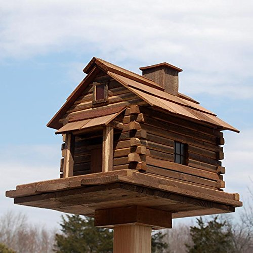 Home Bazaar Valley Forge Feeder (Large) - Natural Cedar