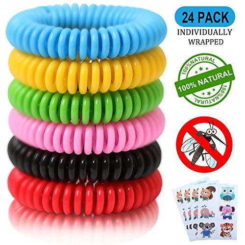 24 Pack Mosquito Repellent Bracelets