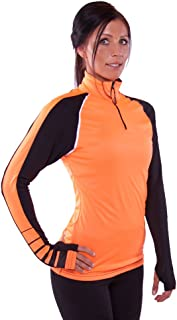 product image for WSI Men's Heatr Charge Long Sleeve 1/4 Zip Shirt, Blaze Orange, Medium