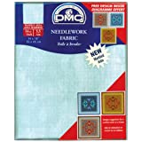 aida cloth - DMC DC27M-3325 Marble Aida Needlework Fabric, 14 by 18-Inch, Blissful Sky, 14 Count