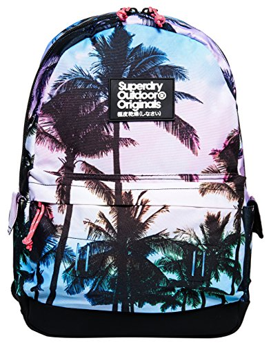 Superdry Women's Miami Photo Montana Backpack, Pink Palm, One ()