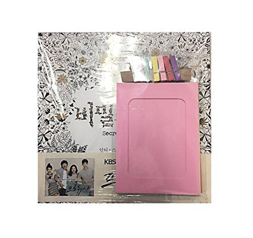 korea-edition-secret-garden-coloring-book-anti-stress-coloring-book-diy-craft-pastel-paper-frame-set