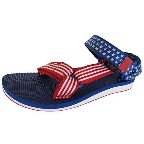 Teva Womens Original Universal 4 Of July Sandalo Sportivo Rosso / Blu