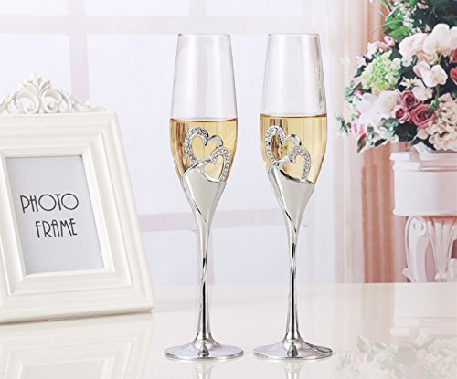 Wedding Champagne Flutes - Wedding Wine Glasses - 2 Pcs / Set Crystal Wedding Toasting Champagne Flutes Glasses Cup Party Marriage Decoration Cup For Gift Wine Drink - Champagne Glasses Wedding (Set Of 20 Champagne Glasses)