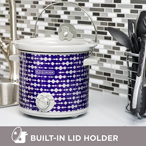BLACK+DECKER SC2004D 4 Quart Dial Control Slow Cooker with Built in Lid Holder, Purple Pulse by Black & Decker (Image #2)