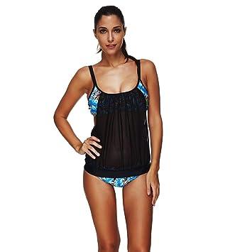 QUICKLYLY Ropa de Natación Mujer Push up Trajes Baño Bikinis ...