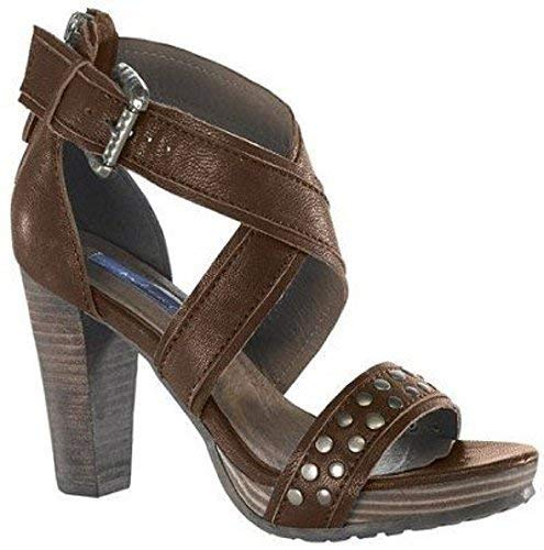 808642c5e21 High-heeled sandals from Chillany of Nappa leather - Colour Dark ...