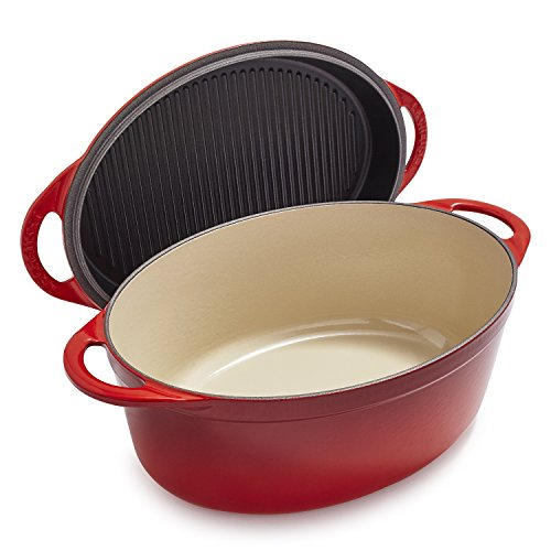 Le Creuset Cast Iron Oval Oven with Reversible Grill for sale  Delivered anywhere in USA