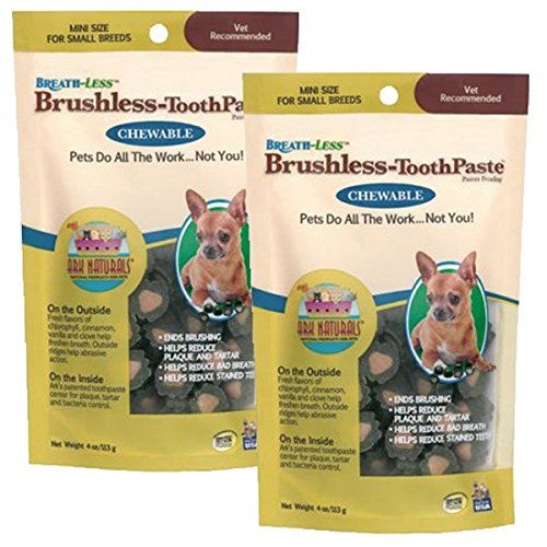 ARK Naturals Products for Dogs Breathless Chewable Brushless Toothpaste, Mini, 4-Ounce, 2 Pack by Ark Lighting