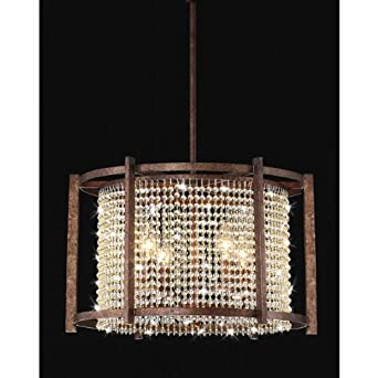 Dark brown 4 light crystal pendant chandeliers amazon dark brown 4 light crystal pendant aloadofball Gallery